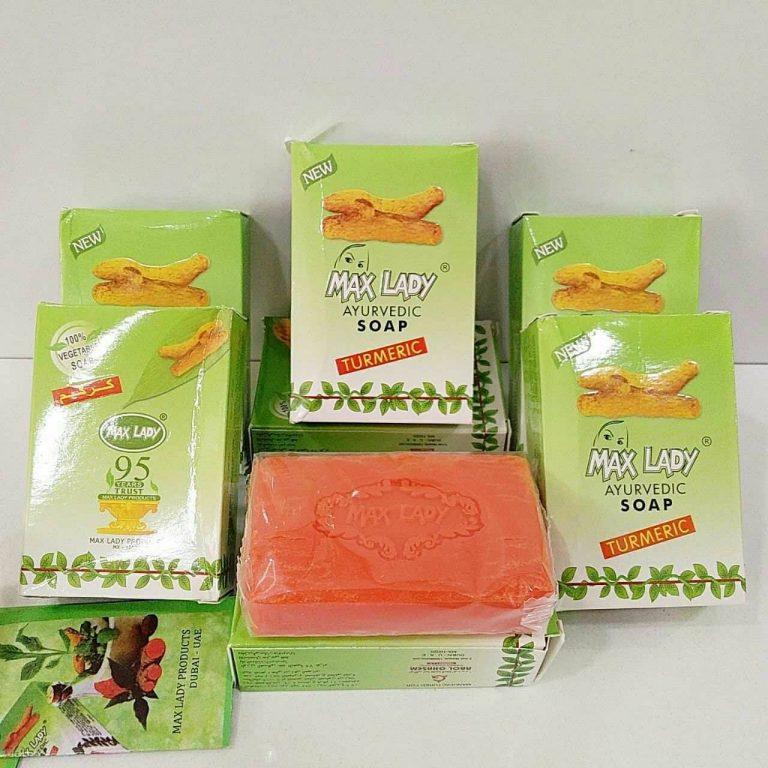 طریقه مصرف صابون زردچوبه مکس لیدی